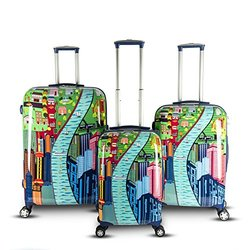"""Dasein Gabbiano 29"""" Chic Collection Spinner Luggage Set - City View"""