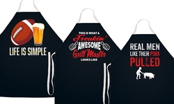 It's The Grillin' Season Aprons: Life Is Simple Football