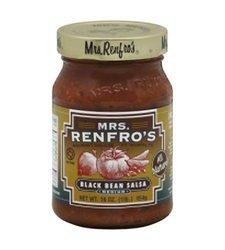 Renfro Fine Foods Black Bean Salsa - Pack of 6 - 16 oz.