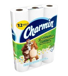 Charmin Plus the Scent of Chamomile Double Rolls Bathroom Tissue, 165 sheets, 12 rolls