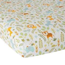 """Dena Happi Crib Sheet  Happi Jungle - Size: 28x52"""""""