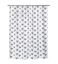 "Nate Berkus 72"" x 72"" Arrowshape Shower Curtains - White/Ebony"