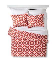 Helix Modern Geo Comforter Set - Orange - Size: Twin