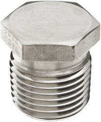 "Parker 316 Stainless Steel Hex Head Plug - MNPT 1/2"" Pipe Size: 1 Each"