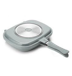 Cook's Companion Cast Ceramic Nonstick Versa Flip Pan - Aluminum