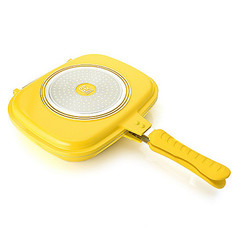 Cook's Companion Cast Ceramic Nonstick Versa Flip Pan - Yellow