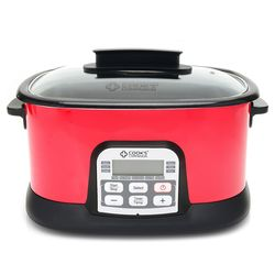 Cook's Companion 6.5 QT 11 in 1 Digital Multi Cooker - Red
