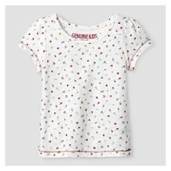 Oshkosh Girl's Slub Jersey Top & Cord Skirtall 2 Pc Set - Red - Size: 4T