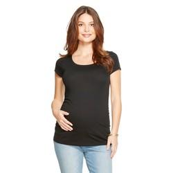 Liz Lange Women's Maternity Short Sleeve Tees - Black - Size: XL