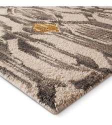 "Threshold 1'10""x7' Modern Global Runner - Grey/Gold"