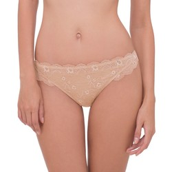 Scandale Paris Women's Lace Brief Panty - Golden Cream - Small