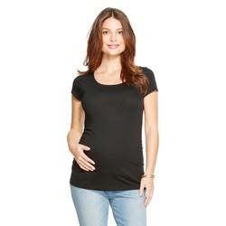 Liz Lange Women's Maternity Scoop Neck Short Sleeve Tee - Grey - Size: XL