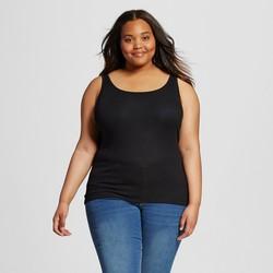 Mossimo Women's Plus Long & Lean Tank Top - Black - Size: 2X
