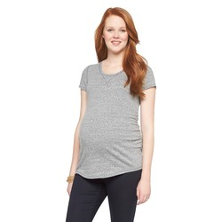 Liz Lange Women's Maternity Spring Brittany Top - Dark Heather - Size: S