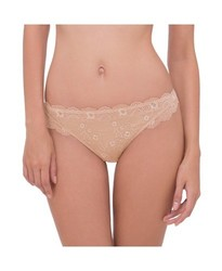 Scandale Women's Comfort Lace Hipster Briefs - Golden Cream - Size: Small