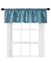 "Threshold Silk Stripes Window Valance - Blue - Size: 54""x15"""