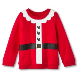 Circo Toddler Girl's F Sweatshirts - Red Hot - Size: 4T
