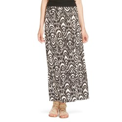 Mossimo Women's Printed Maxi Skirt - Black/white - Size: Small