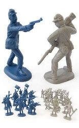TinToyArcade Civil War Soldiers Yankee Rebel Figures
