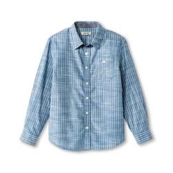 Cherokee Kids Boys' Stripe Button Down Shirt Blue - Size: Large