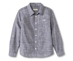 Cherokee Kids Boys' Slub Chambray Button Down Shirt - Grey - Size: XXL