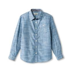 Cherokee Kids Boys' Stripe Button Down Shirt Blue - Size: XLarge