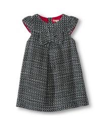 Oshkosh Toddler Girls' Woven Dress - Black/White - Size: 12M