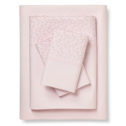 Simply Shabby Chic 4-Piece Mon Ami Sheet Set - Pink - Size: Twin XL