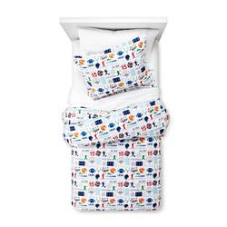 Circo Sports Zone Flannel Duvet Cover - Multicolor - Size: Full/Queen