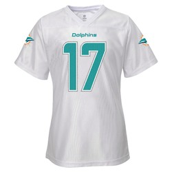 NFL Girls' Miami Dolphins Jersey - White - Size: Large