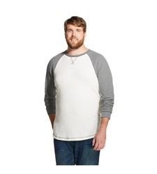 Mossimo Men's Big & Tall Long Sleeve Thermal T-Shirt - White Feather - M