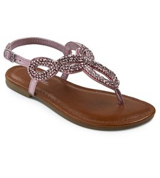 Cherokee Girls' Florence Thong Sandals - Pink - Size: 13