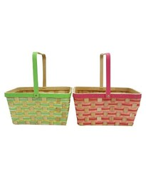 Crescent Spritz Rectangle Chipwood Basket - 2-Pack - Assorted
