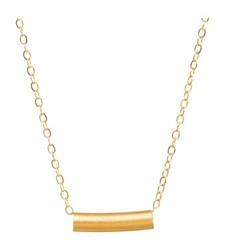 "Venice & Violet By Dogeared Women's 18"" Tube Necklace - Gold"