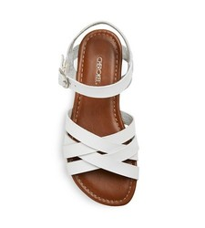 Cherokee Girls' Rose Slide Sandals - White - Size: 2