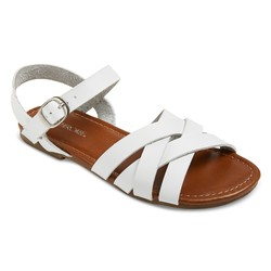 Cherokee Girls' Rose Slide Sandals - White - Size: 3