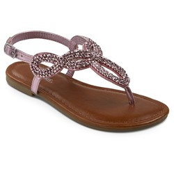 Cherokee Girls' Florence Thong Sandals - Pink - Size: 5
