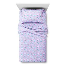 Circo Butterfly Flannel Bed Sheet Set - Purple - Size: Full