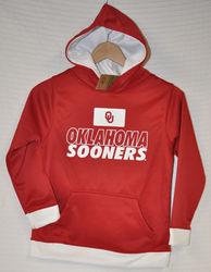 Oklahoma Sooners Boy's Hoodie Pullover Sweatshirt - Red - Size M 8/10