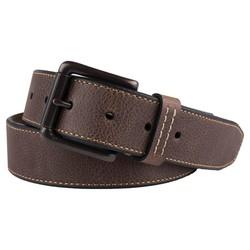 Merona Men's Antique Finish Buckle Bonded Leather Belt - Brown - Size: XXL