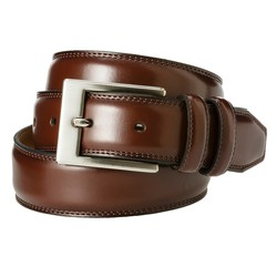 Merona Men's Silver Buckle Belt - Brown - Size: XXL