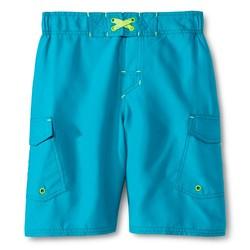 Cherokee Boy's Solid Volley Swim Trunk - Boardwalk Blue - Size: Small