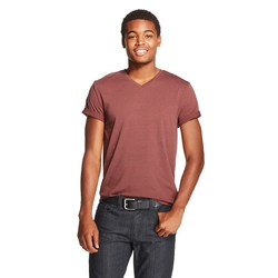 Mossimo Men's V-Neck T-Shirt - Mountain Red - Size: XS