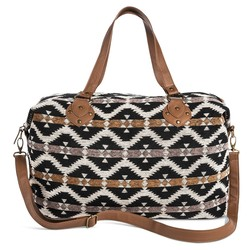 Mossimo Women's Black Diamond Print Weekender Handbag - Brown