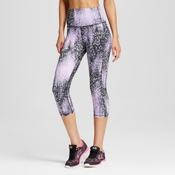 C9 Champion Women's Performance High Capri - Black/Lavender - Sz: Plus