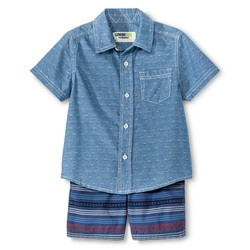 Genuine Kids Boys' Top And Bottom Set - Metallic Blue - Size: 18M