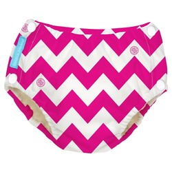 Charlie Banana Baby Reusable Swim Diaper - Pink Chevron - Size: XL