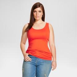 Ava & Viv Women's F Tank Tops - Orange - Size: 2X