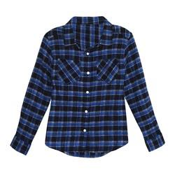 Franki & Jack Girls' Button Down Shirt - Blue - Size: XL