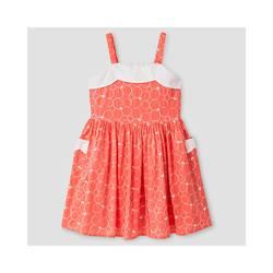 Genuine Kids from Oshkosh Girls' Scallop Neck Dress - Coral - Size:S(6-6X)